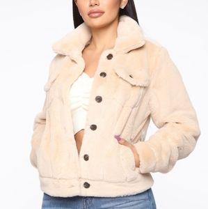 Jackets & Blazers - Faux Fur Blogger Jacket cream beige